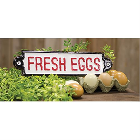 Fresh Eggs - Metal Plaque
