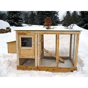 Urban Chicken Coop Plans (up to 4 chickens)