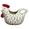 Black & Cream Hen-Shaped Creamer
