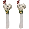 Black & Cream Rooster Spreaders