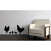 Chicken Family Removable Wall Decal